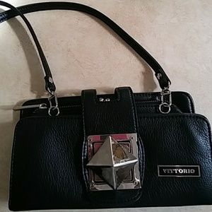 Vittorio leather clutch